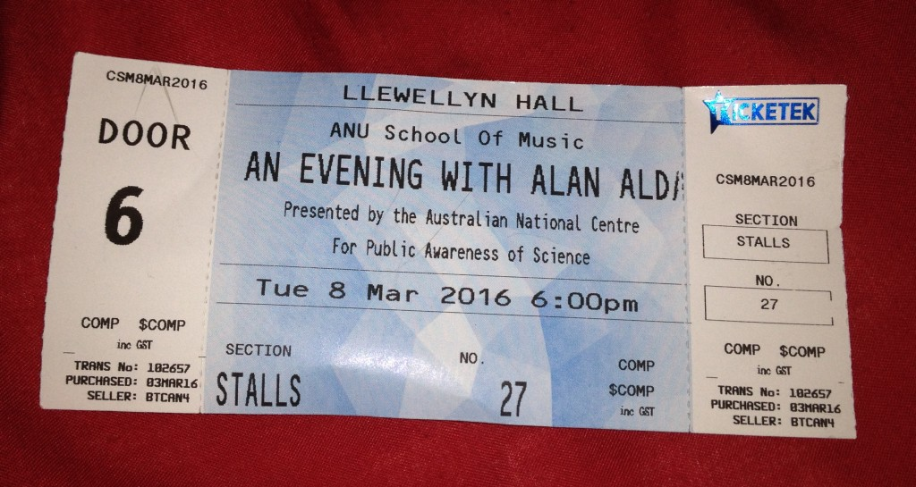 ticket for alan alda talk