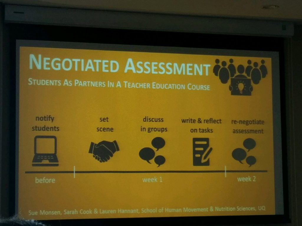 negotiated assessment process