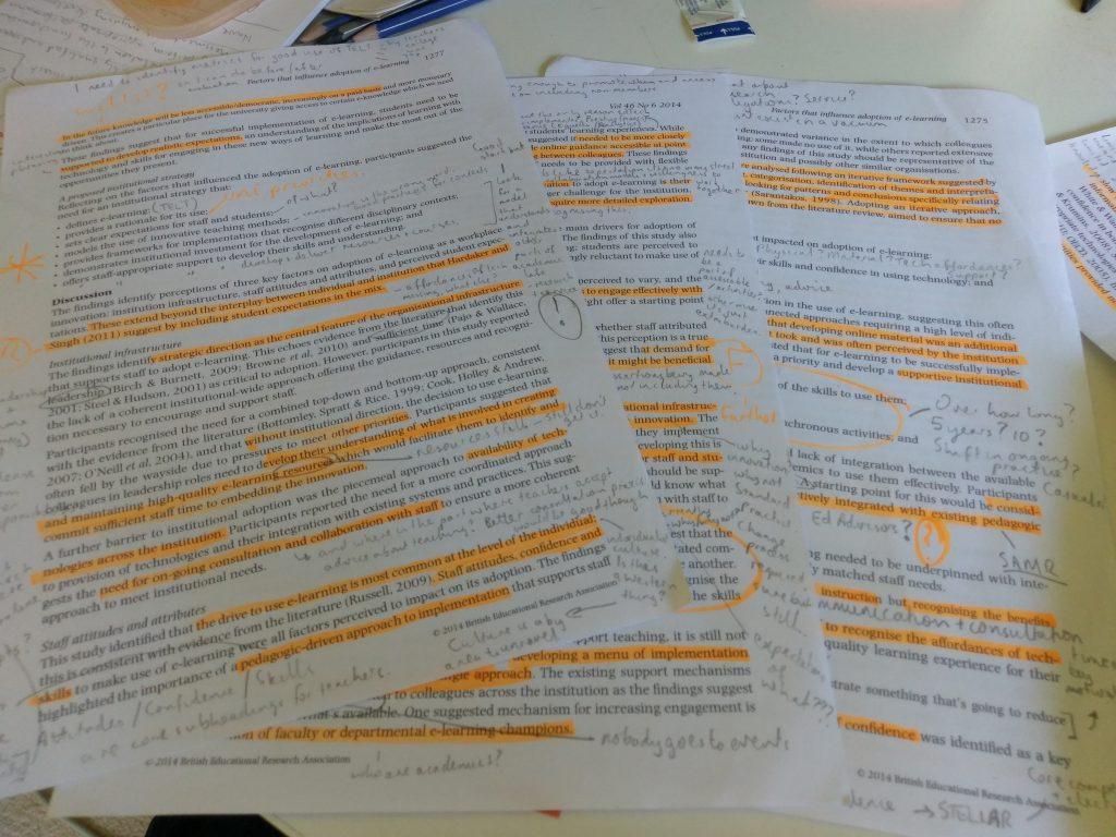 scrawled notes